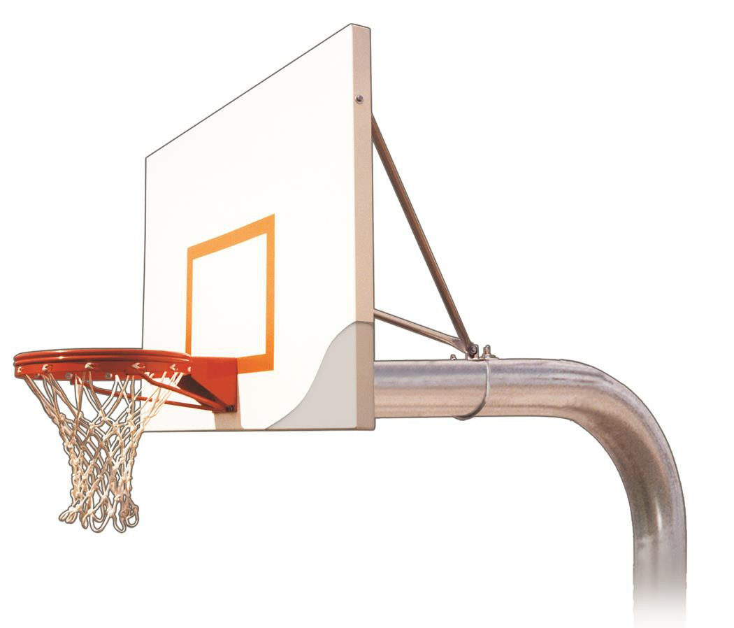 First Team Tyrant Impervia In Ground Outdoor Fixed Height Basketball Hoop 54 inch Aluminum