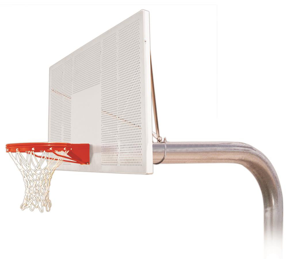 First Team Tyrant Intensity In Ground Outdoor Fixed Height Basketball Hoop 72 inch Perforated Aluminum