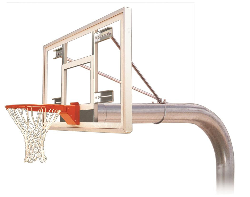 First Team Tyrant Select In Ground Outdoor Fixed Height Basketball Hoop 60 inch Acrylic