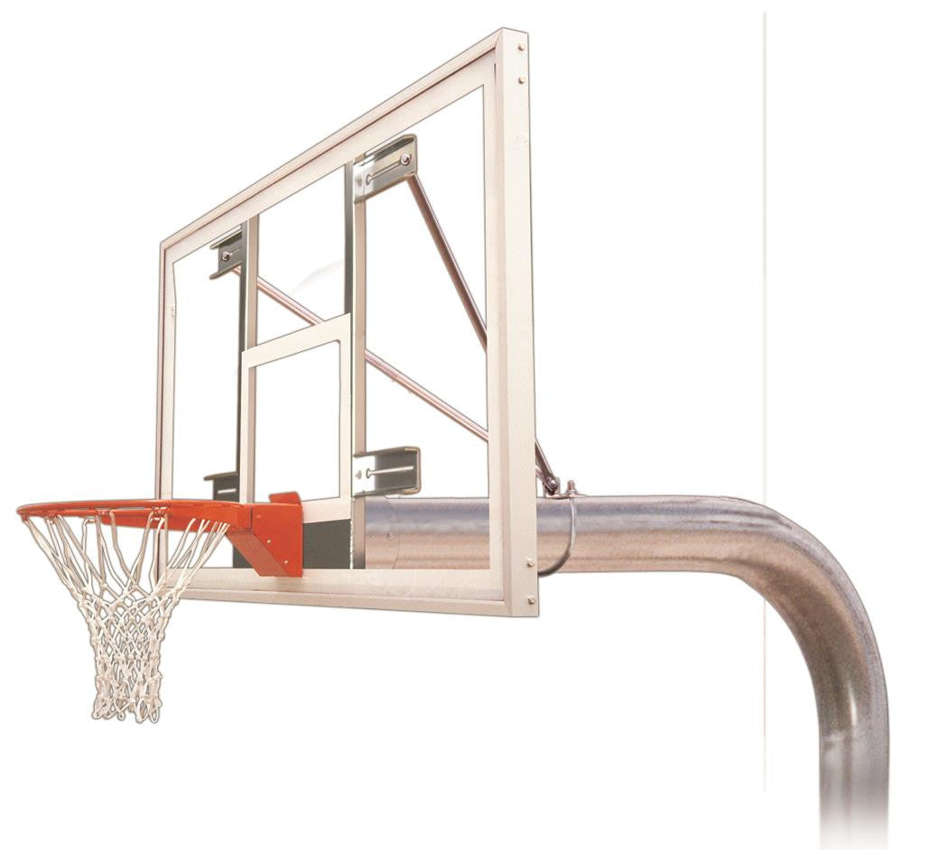 First Team Tyrant Supreme In Ground Outdoor Fixed Height Basketball Hoop 72 inch Acrylic