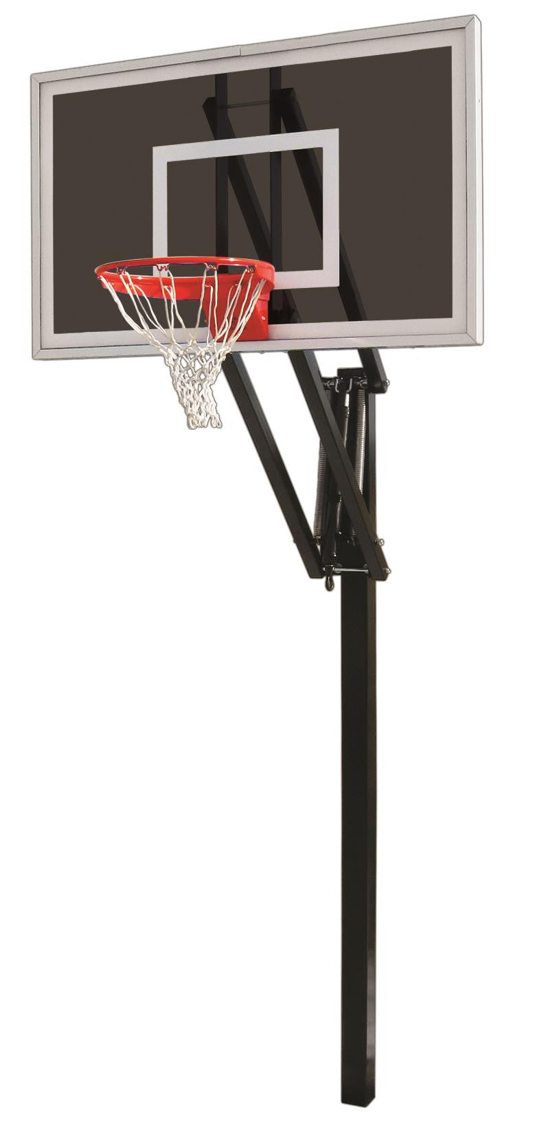 First Team Vector Eclipse In Ground Outdoor Adjustable Basketball Hoop 60 inch Smoked Glass