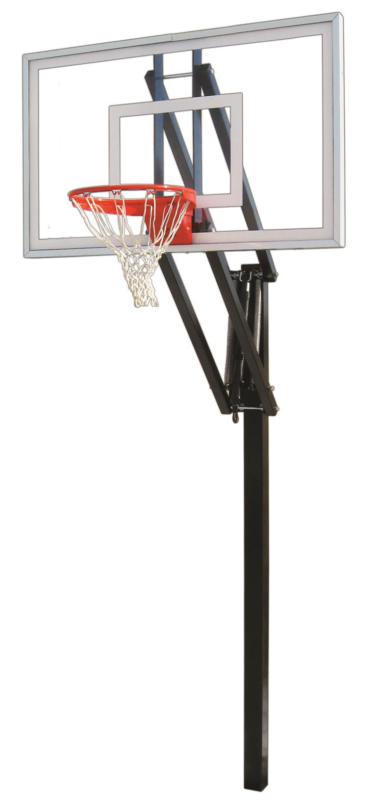 First Team Vector Nitro In Ground Outdoor Adjustable Basketball Hoop 60 inch Tempered Glass