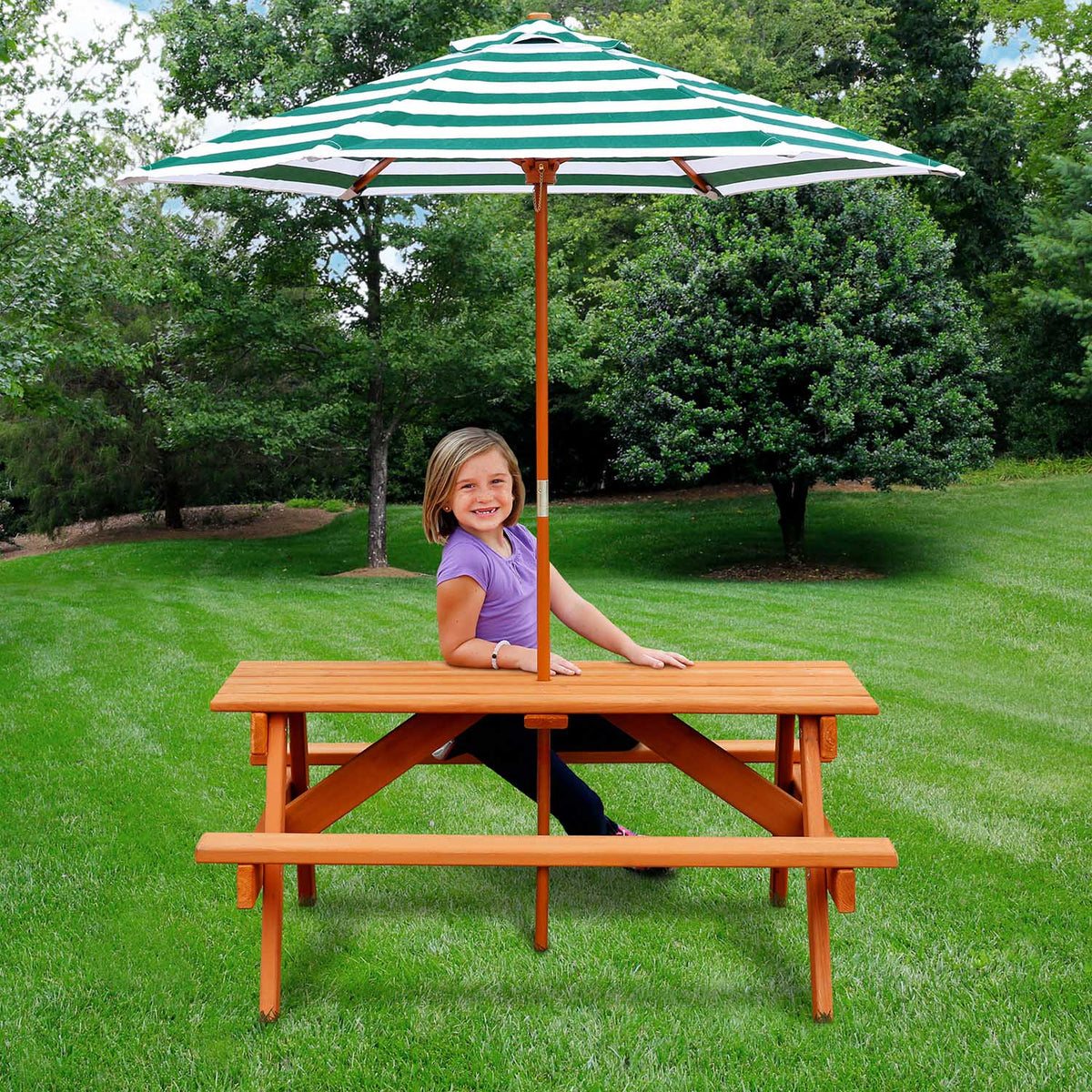 Gorilla-Playsets-Children's-Picnic-Table-Side