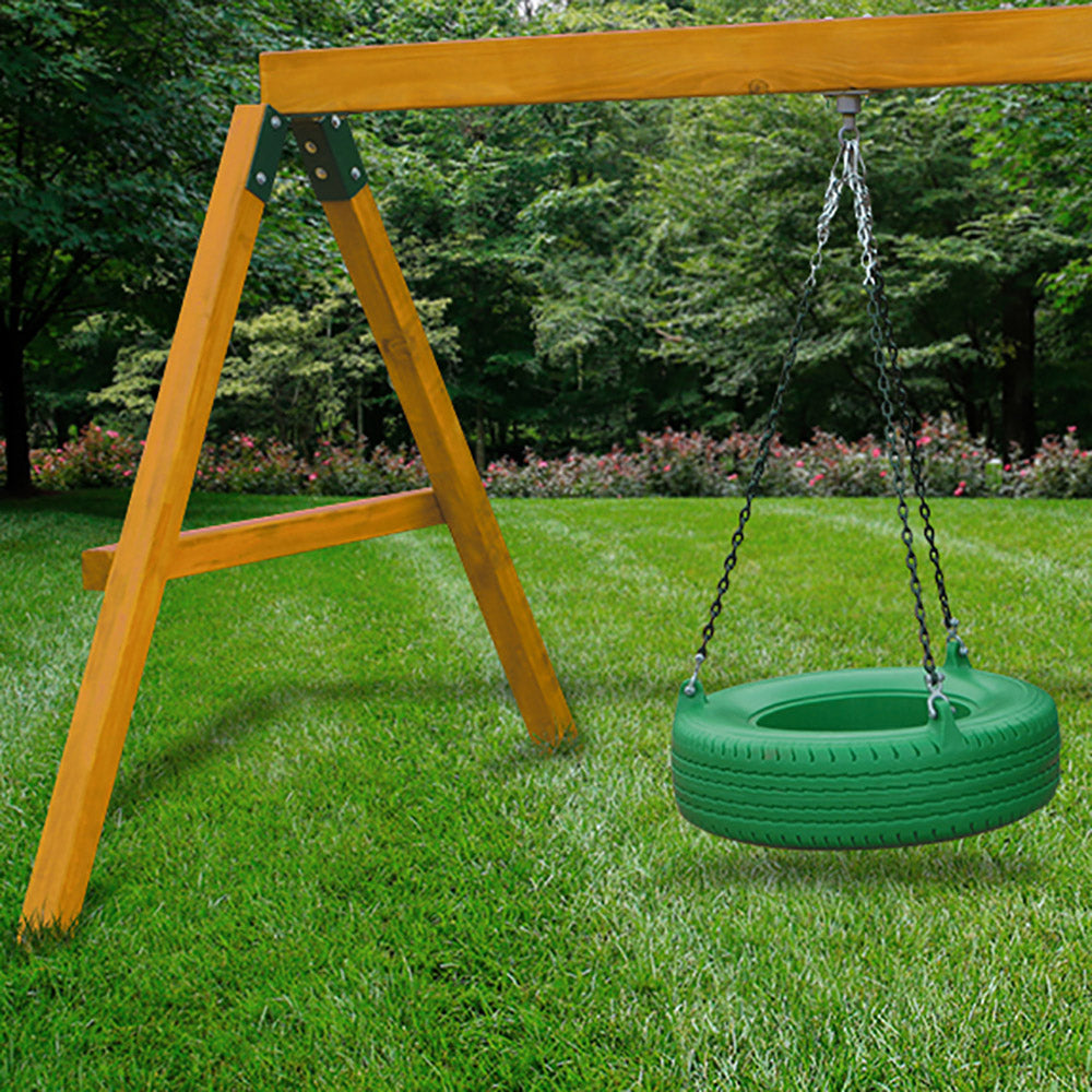 Gorilla-Playsets-Frontier-Deluxe-Wooden-Swingset-Tire-Swing