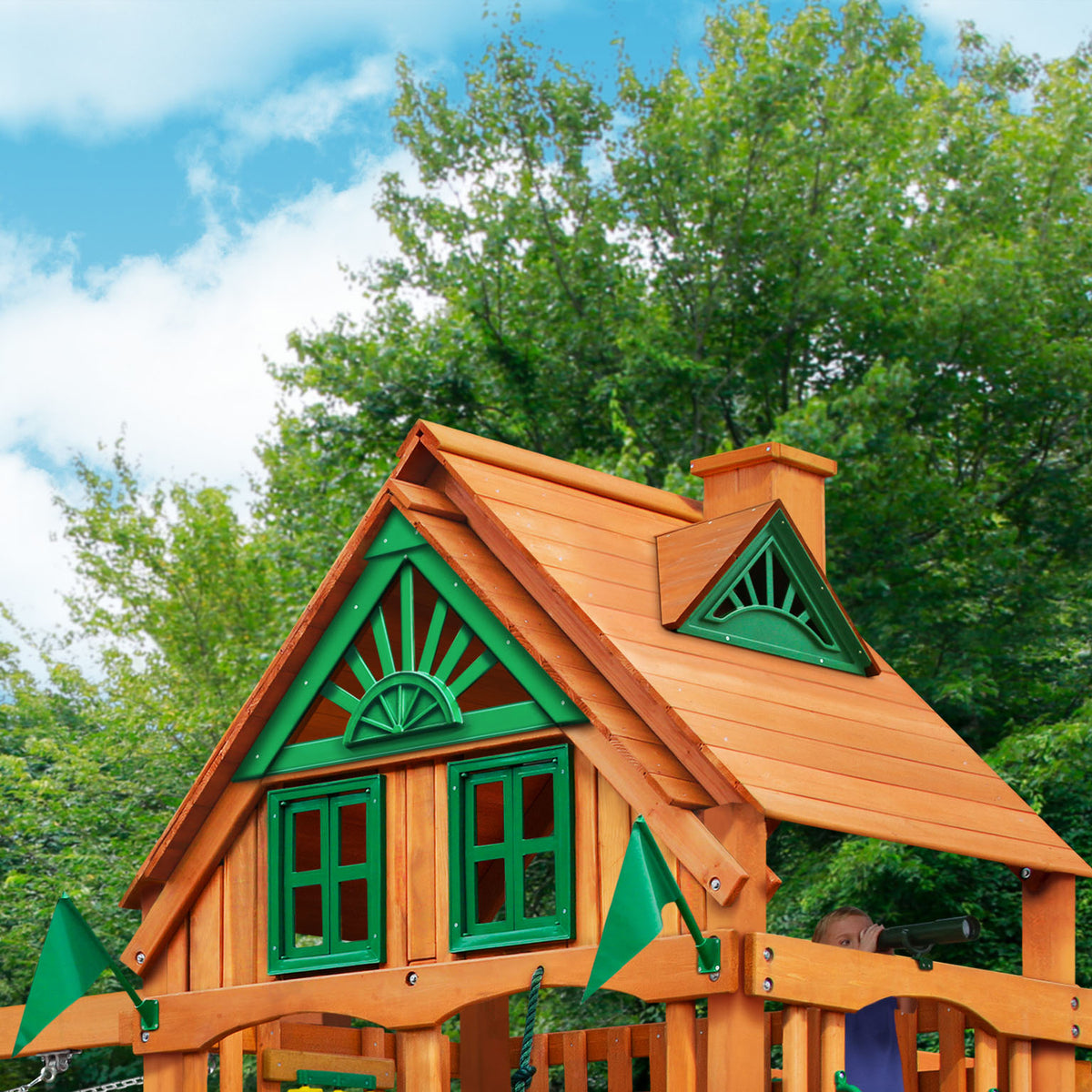 Gorilla-Playsets-Frontier-Treehouse-Wooden-Swingset-Roof