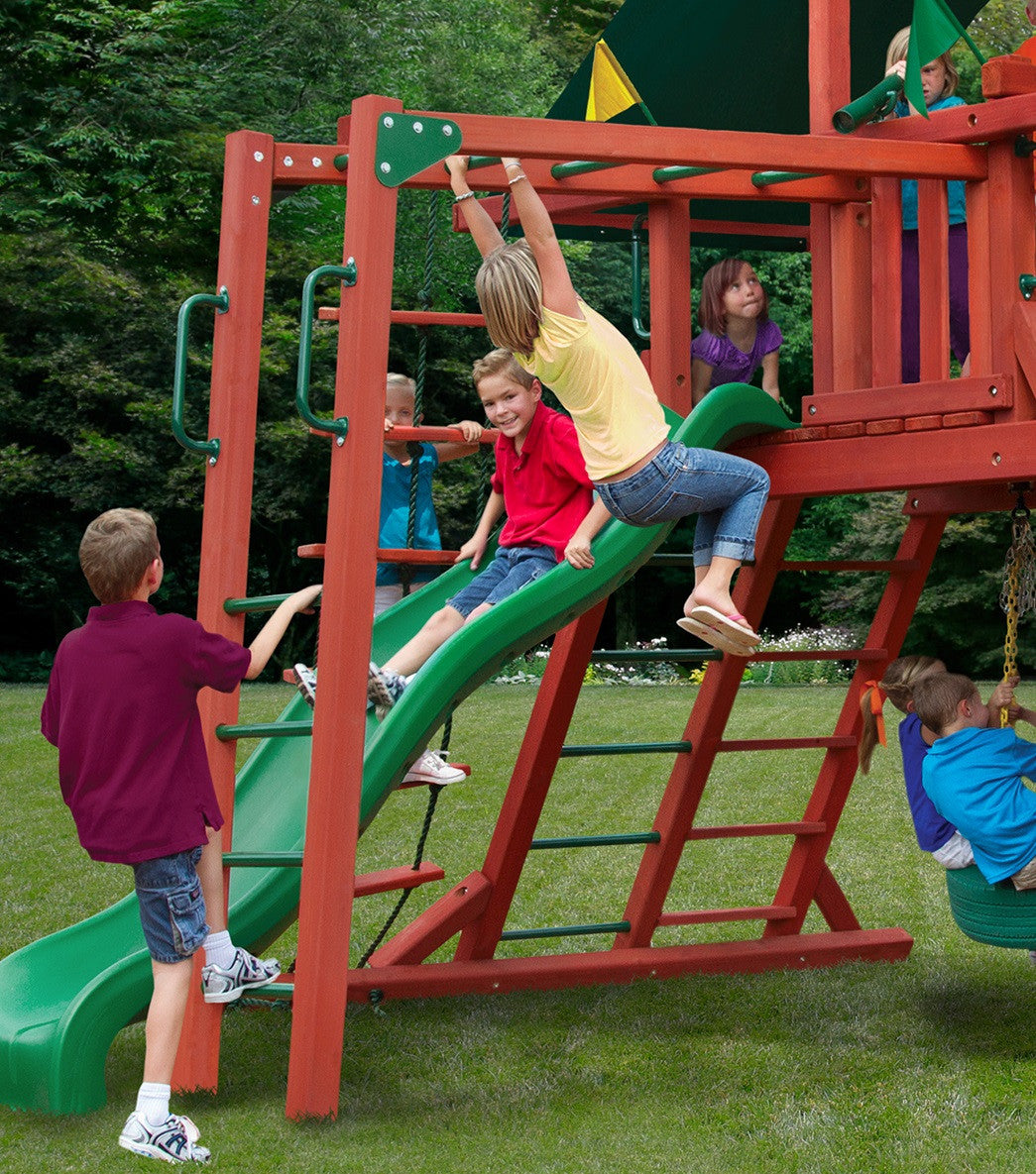 Gorilla-Playsets-Monkey-Bars-Add-On-Redwood