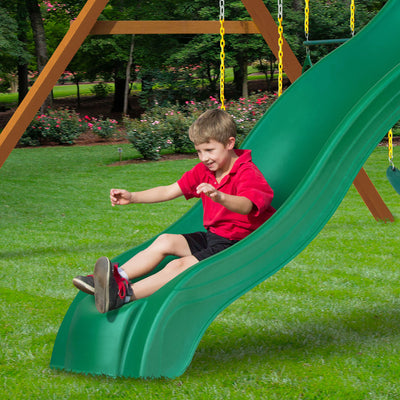 Gorilla-Playsets-Mountaineer-Wooden-Swingset-Slide-Straight