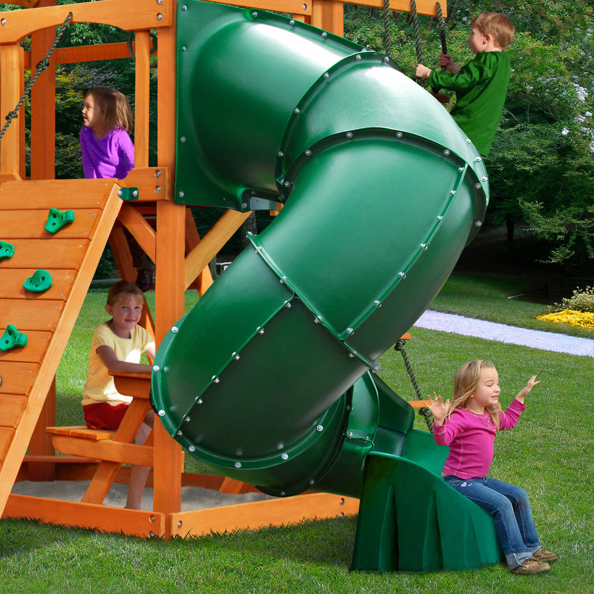 Gorilla-Playsets-Mountaineer-Wooden-Swingset-Slide-Twirl