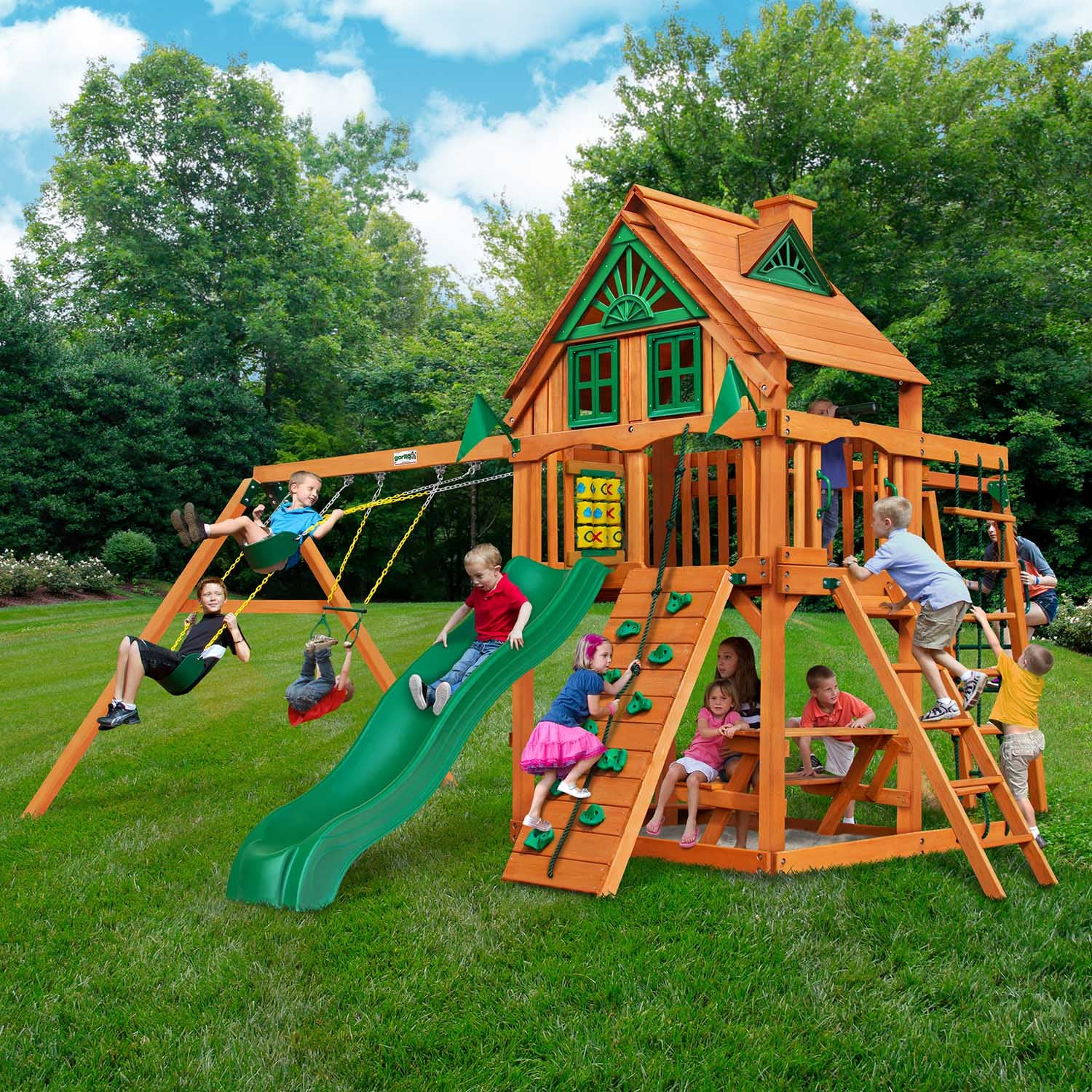 Gorilla-Playsets-Navigator-Treehouse-Wooden-Swingset