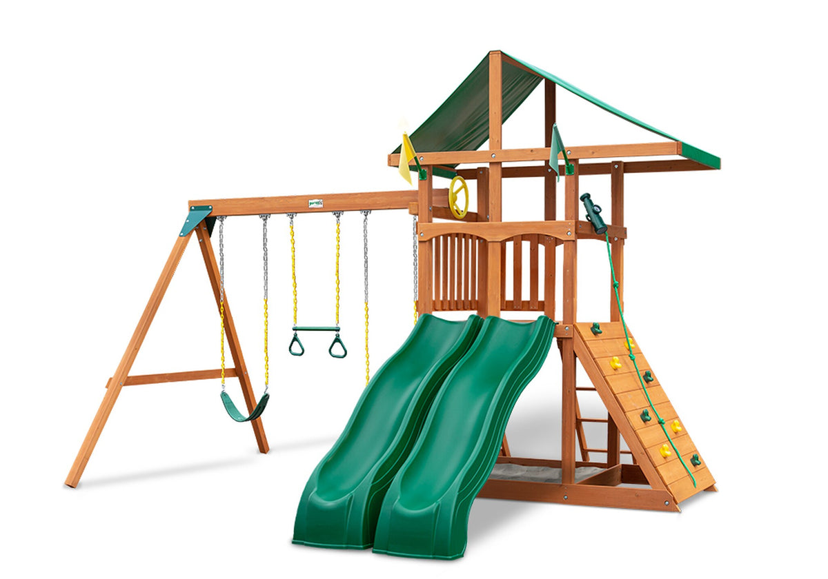 Gorilla Playsets Outing W/Dual Slides Wooden Swing Set