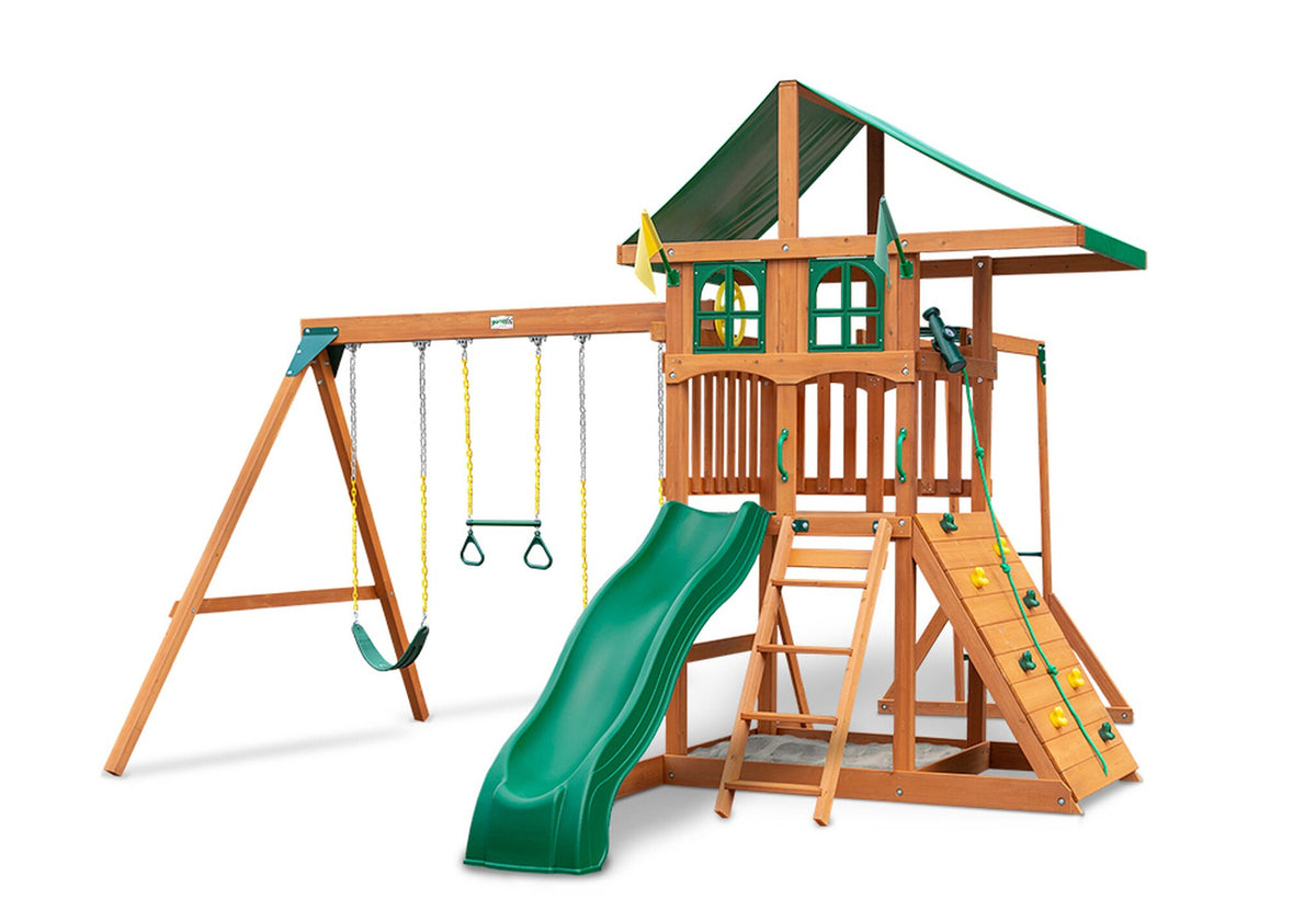 Gorilla-Playsets-Outing-W-Monkey-Bars-Wooden-Swing-Set-Window-Option