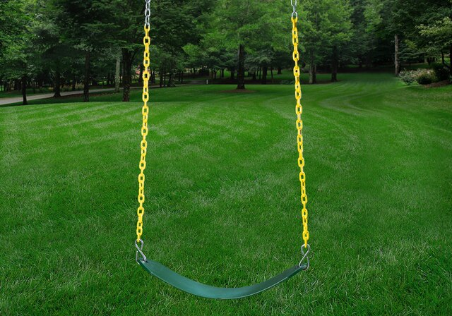 Gorilla-Playsets-Outing-W-Trapeze-Bar-Wooden-Swing-Set-Swing