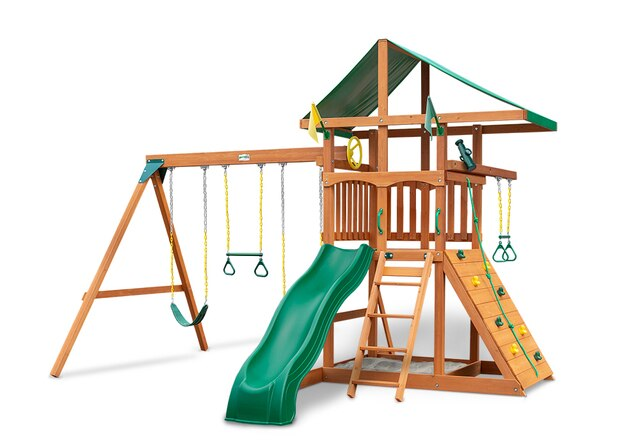 Gorilla-Playsets-Outing-W-Trapeze-Bar-Wooden-Swing-Set-White-Back