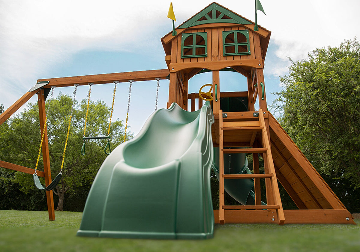 Gorilla-Playsets-Outing-W-Tube-Slide-Wooden-Swing-Set-Wave-Slide