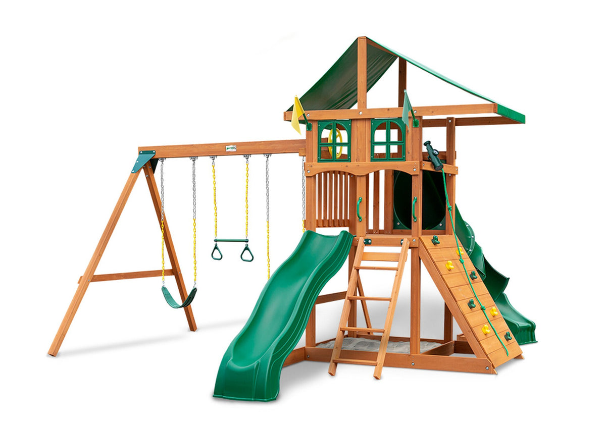 Gorilla-Playsets-Outing-W-Tube-Slide-Wooden-Swing-Set-Window-Option