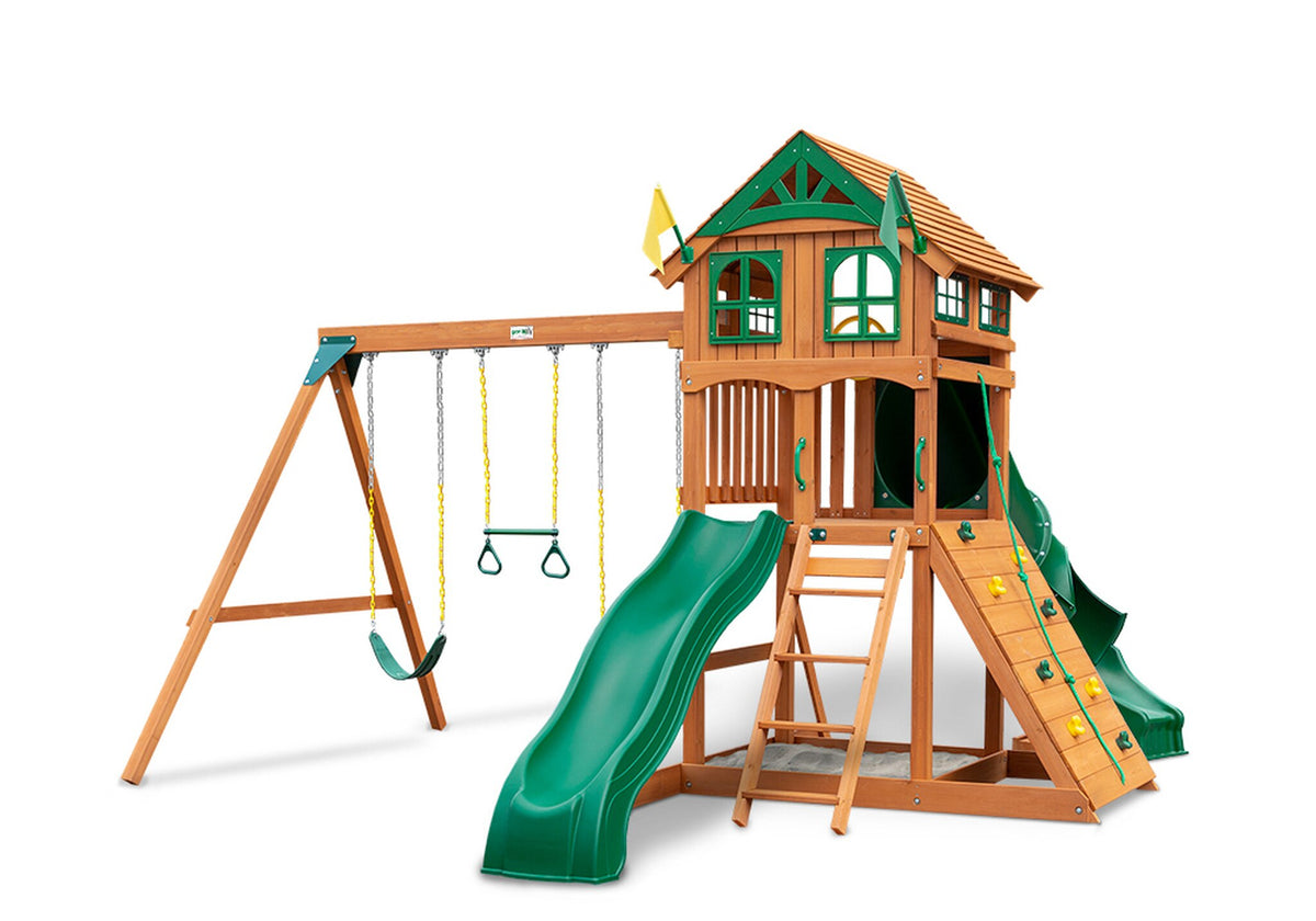 Gorilla-Playsets-Outing-W-Tube-Slide-Wooden-Swing-Set-Wood-Roof