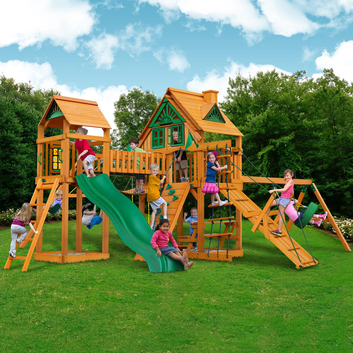 Gorilla-Playsets-Pioneer-Peak-Treehouse-Wooden-Swingset