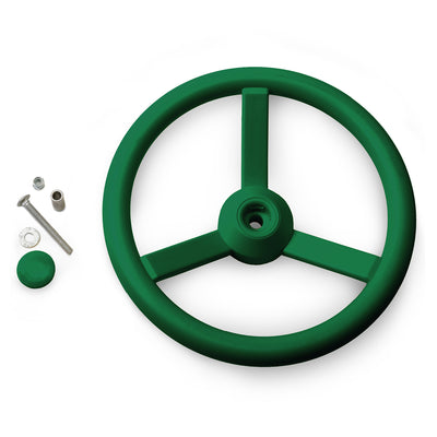 Gorilla-Playsets-Steering-Wheel-Green-W-Bolts-White-Back