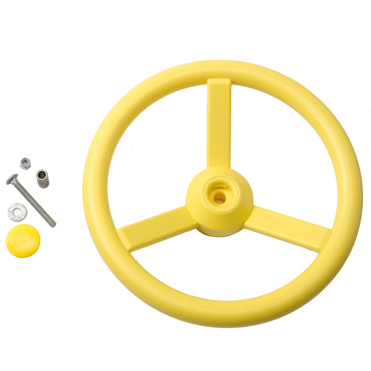 Gorilla-Playsets-Steering-Wheel-Yellow-W-Bolts-White-Back