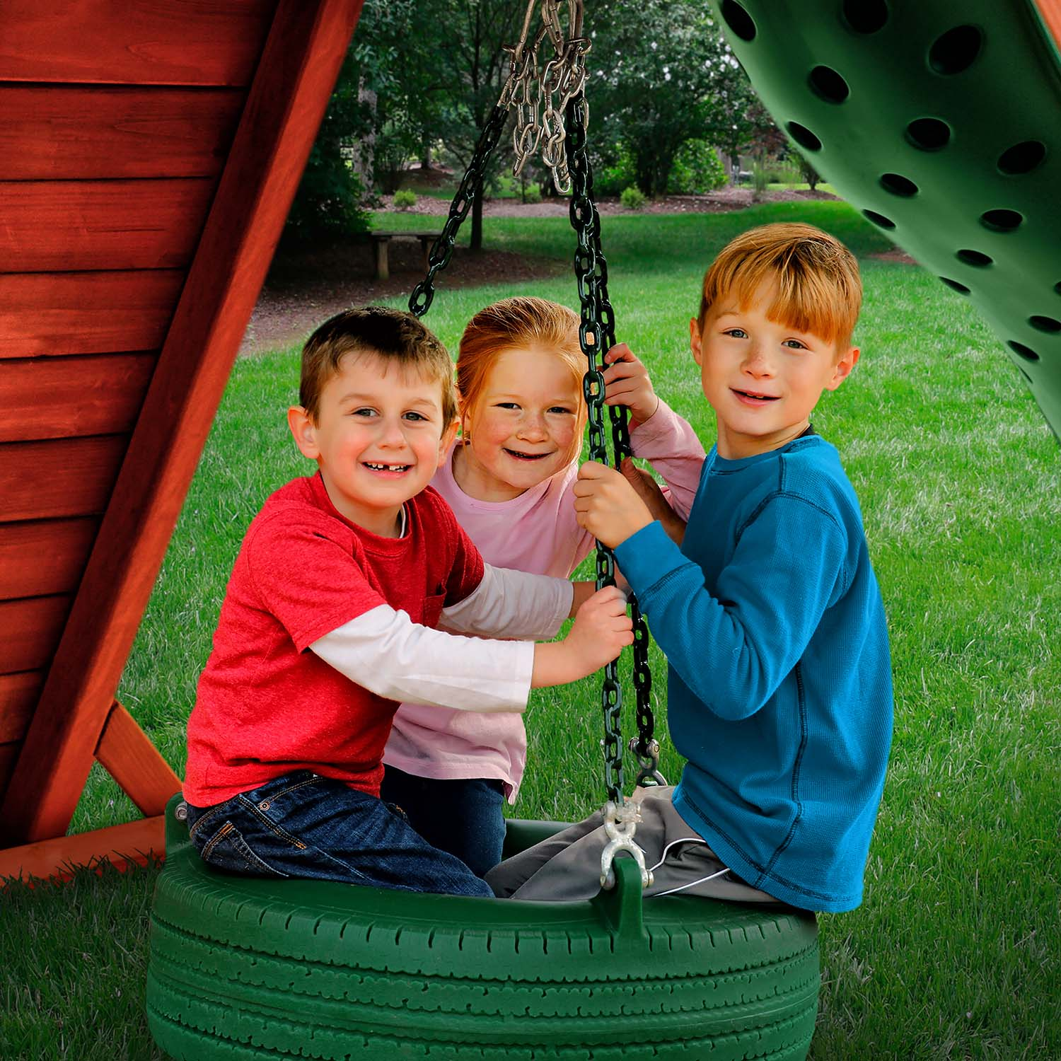 Gorilla-Playsets-Tire-Swing-Green-W-Kids