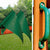 Gorilla-Playsets-Treasure-Trove-I-Treehouse-Wooden-Swingset-Flags