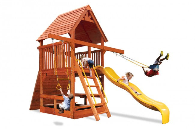 Playground-One-Deluxe-Fort-Spacesaver-Double-Swing-Arm-White-Back