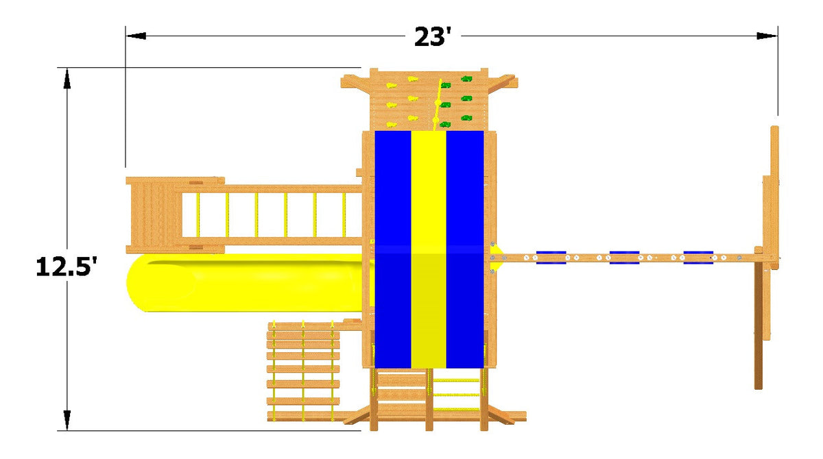 Playground-One-Turbo-Original-Playcenter-with-Monkey-Bars-Overhead-Dimensions