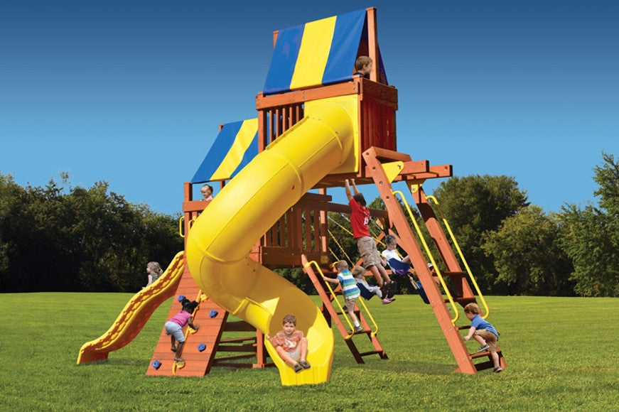 Playground-One-Original-Fort-with-Monkey-Bars-and-Sky-Loft-and-Tube-Slide
