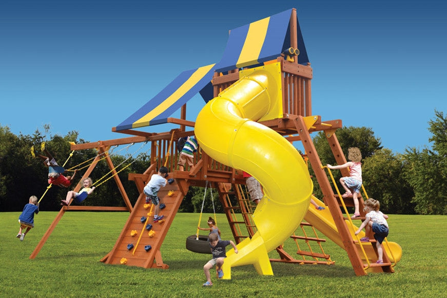 Playground-One-Turbo-Deluxe-Playcenter-Combo-5-Blue-Yellow-Blue