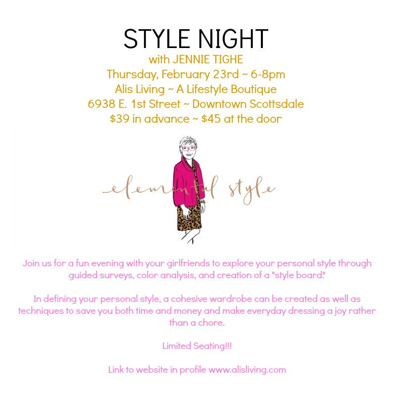 {Fashion} STYLE NIGHT with Jennie Tighe