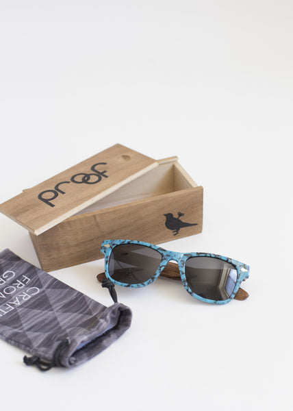 Proof Pledge Turquoise Sunglasses