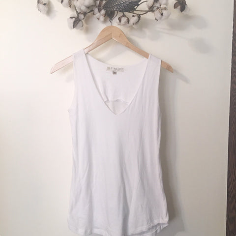 Double Front V-Neck Tank