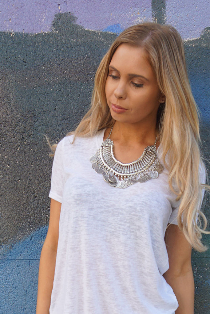 GYPSY COIN STATEMENT NECKLACE