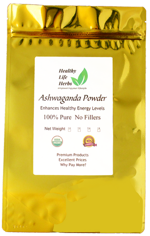 Ashwagandha Powder 1 oz > 2 lb - Certified USDA Organic