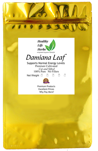 Damiana Leaf 1/2 oz > 1 lb  - Supports Vitality - Potent!