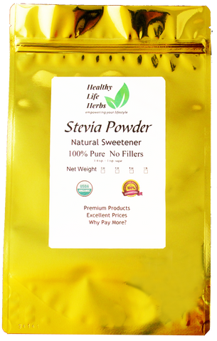 Stevia Powder (Green) 1 oz > 1 lb - Certified USDA Organic