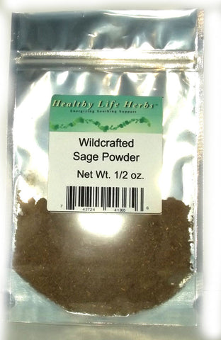 Sage 1/2 oz > 11 lb - Wildcrafted - Respiratory System Support, Cooking Digestive Support