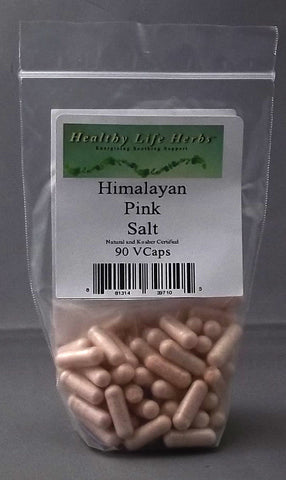 Pure Pink Himalayan Salt Capsules 850 mg 90 > 540. Hand Mined