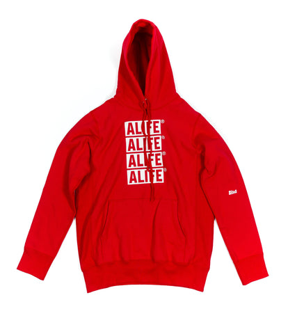 ALIFE® STACKED LOGO HOODIE [RED]