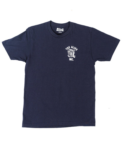 ALIFE® ANTIQUE A LOGO TEE [NAVY]
