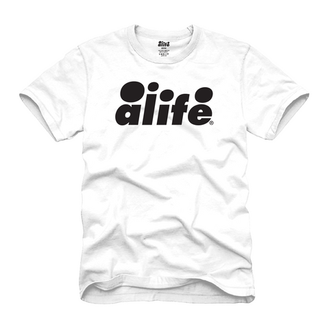 ALIFE® BUBBLE LOGO TEE - WHITE/BLACK