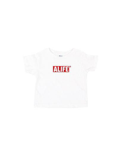 ALIFE® TODDLER BOX LOGO [WHITE]