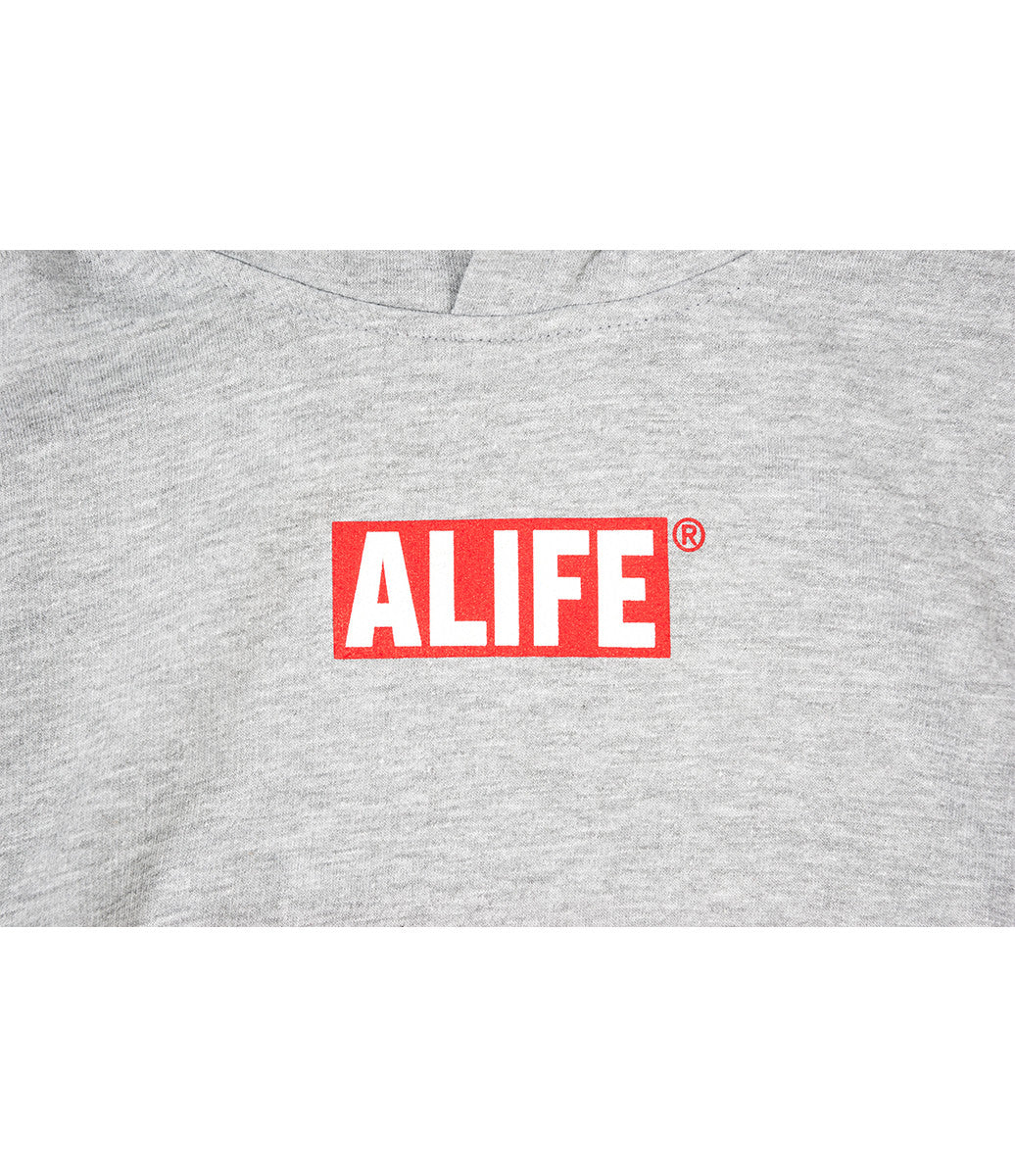 ALIFE® BOX LOGO TODDLER HOODIE [GRAY/RED]