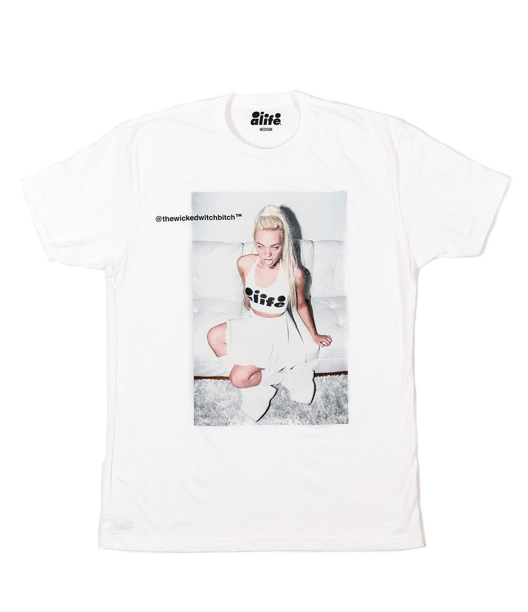 ALIFE® WITCHBITCH T-SHIRT [WHITE]