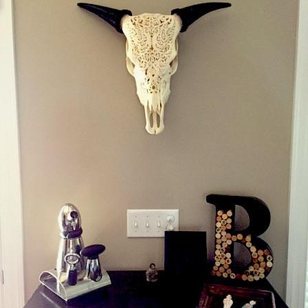 Cow Skull Living Room Decor