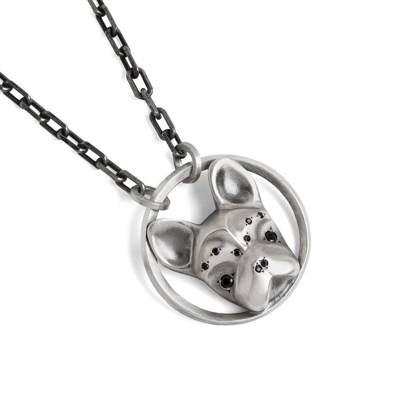ELINA GLEIZER  45 cm French Bulldog Necklace