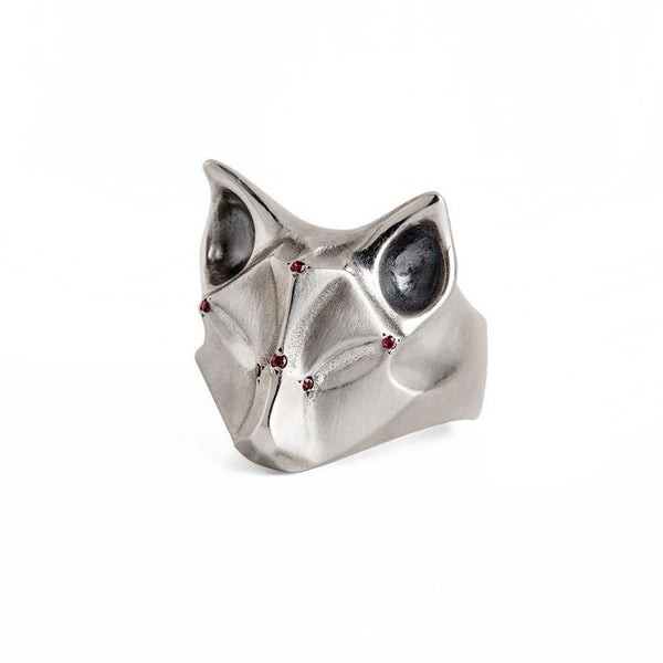 ELINA GLEIZER Fox Ring with Bronze Sapphire Adornment