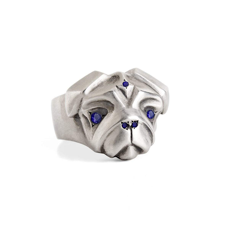 ELINA GLEIZER Jewelry Select your size Pug Ring with Blue Sapphires