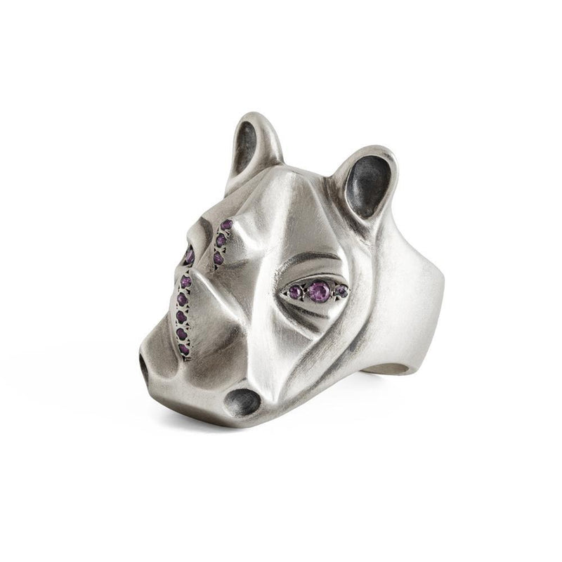 ELINA GLEIZER Lady Rhino Ring with Fancy Pink Sapphires Setting