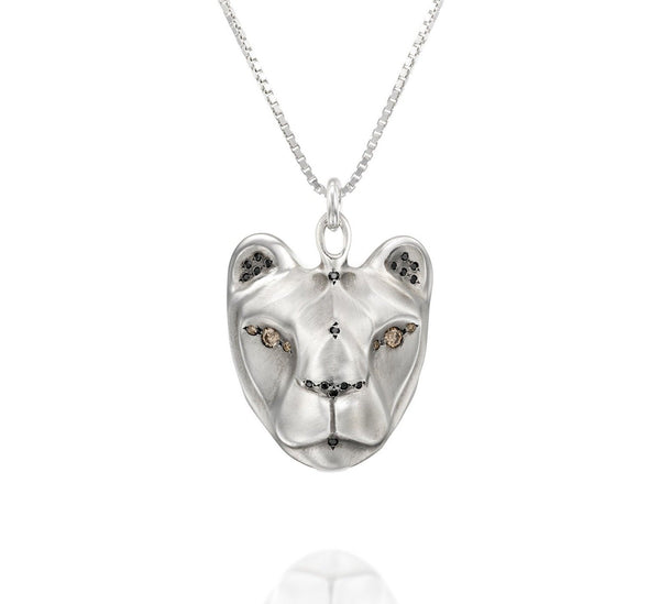ELINA GLEIZER Rings 55 cm Lioness Necklace with Majestic Black & Champagne Diamonds